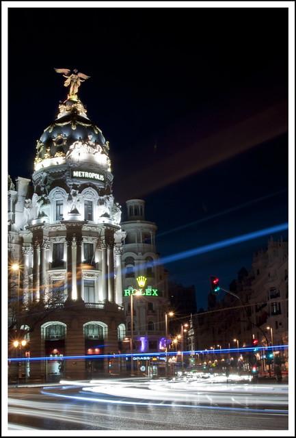 Madrid nocturno # 1 - Gran Via. (Explore)