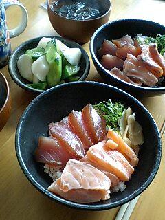 まぐろサーモン丼 by nekotano