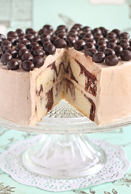Mocha Marble Cake with Chocolate Covered Coffee Beans | Flickr - Photo ...