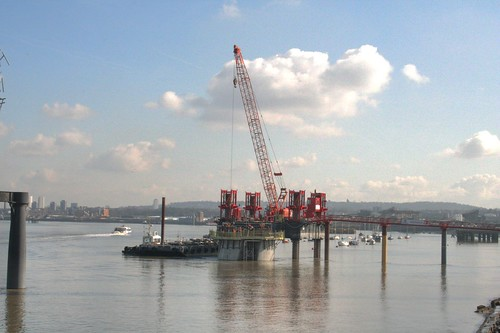 South pylon underway
