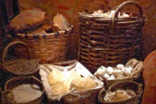 Edad Media, alimentos y recipientes