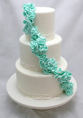 Fondant Ruffled Garland in Teal