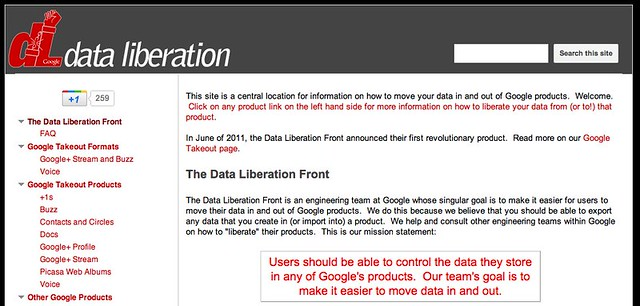 the Data Liberation Front