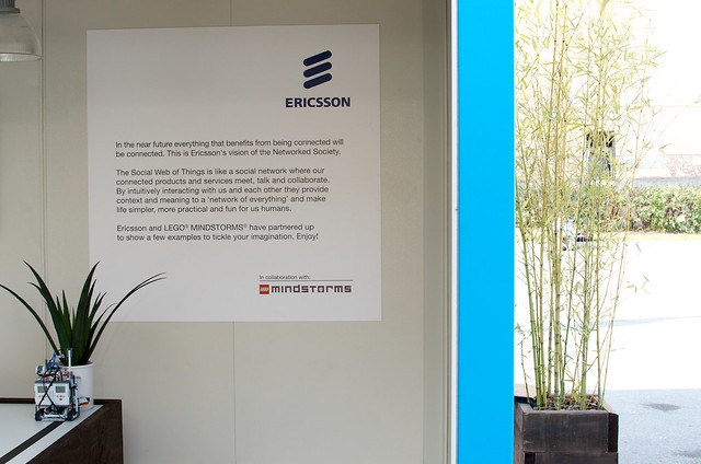 Ericsson and Lego Mindstorms poster