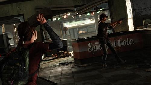 Ellie throws brick - The Last Of Us
