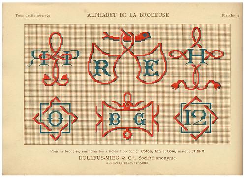 014-Alphabet de la Brodeuse1932- Thérèse de Dillmont