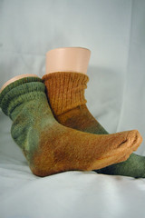 socks_green_tan