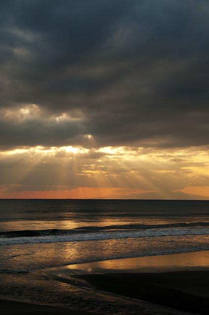 千葉の海と夕焼け