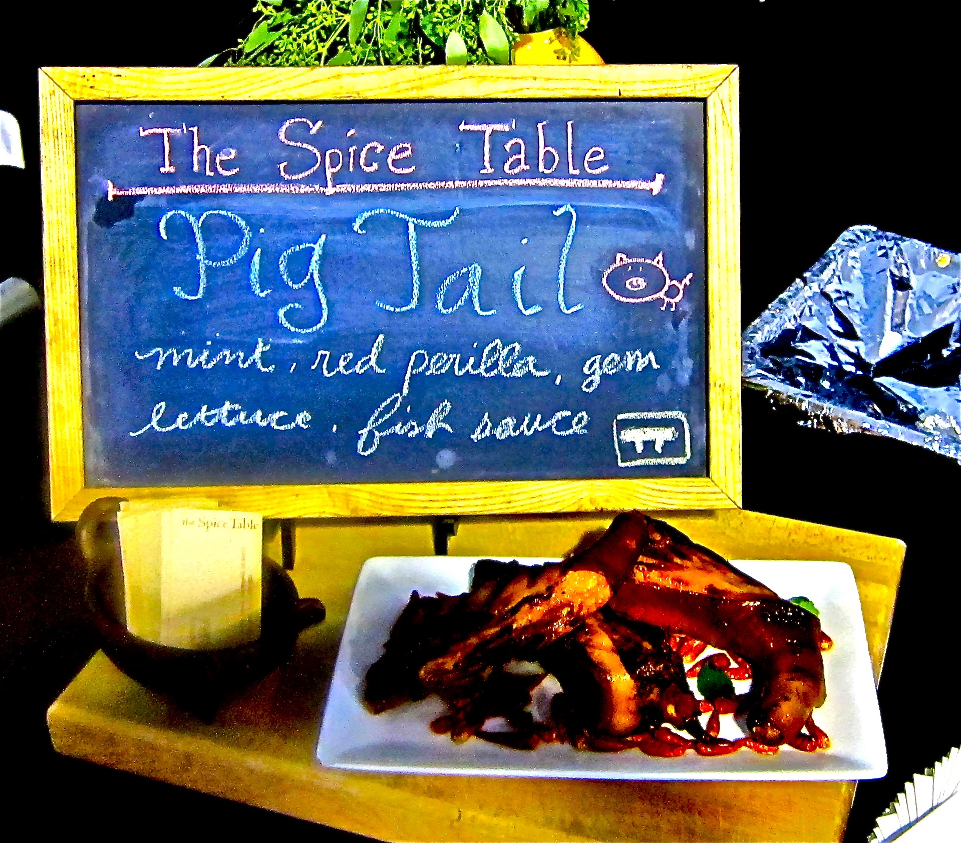 pig tail anyone? Yes, from The Spice Table
