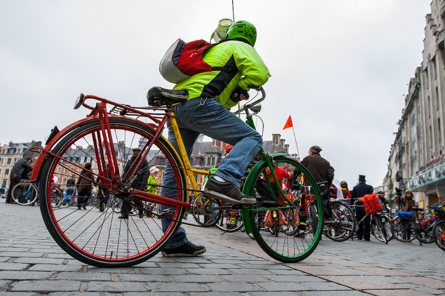 LILLE, FRANCE - 3 MARCH 2012: Velorution carnaval