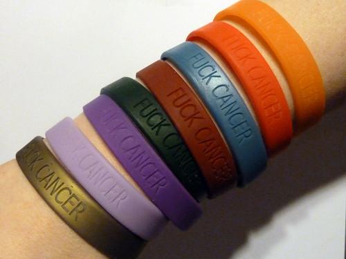 Fuck Cancer Bracelets - Mk4, Misc Colors