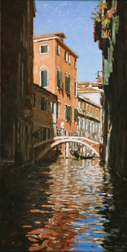 "Venice oil sketch 16½"" x 8½"""
