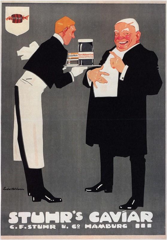 Ludwig Hohlwein. Stuhr's Caviar. 1909