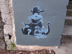 Fake Banksy Ghetto Ratster
