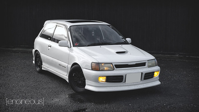 A dirty Starlet GT Turbo -- Transportation in photography-on