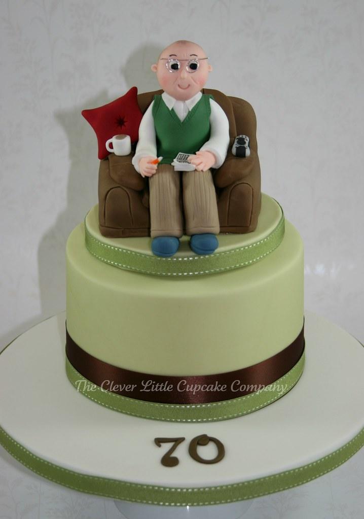 70th Birthday Celebration Cake