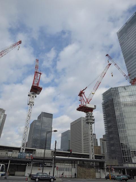 Tokyo station under reconstruction