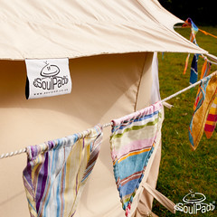 Bunting Around a SoulPad Bell Tent