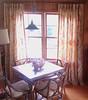 Window treatments, Unlined linen in a large Jacobean print