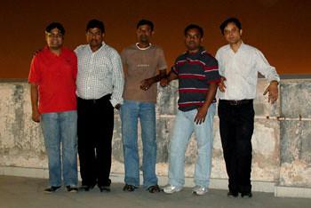 Myself, Jaijit, Bernard, Prosanto & Dharmendra
