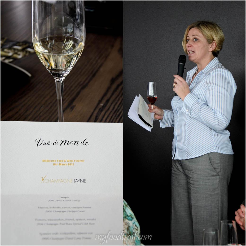 CJ Vue De Monde Lunch - Menu, Champagne Jane
