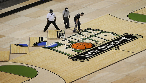 Forest to Final Four Floor. Photo by Jack Gruber, USA TODAY Staff