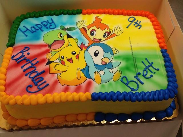 Birthday Cake With Photo Upload Free : Pokemon Birthday Cake Explore MissLandis  photos on ...