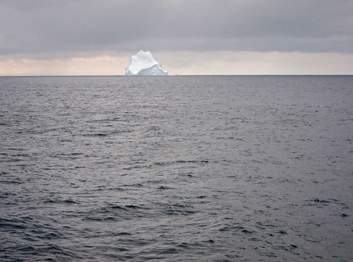 En route to Antarctica from Argentina, first iceberg view