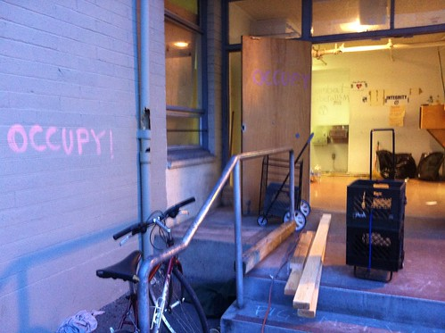 #888Turk door open just now #occupysf #ows #oo #sfcommune