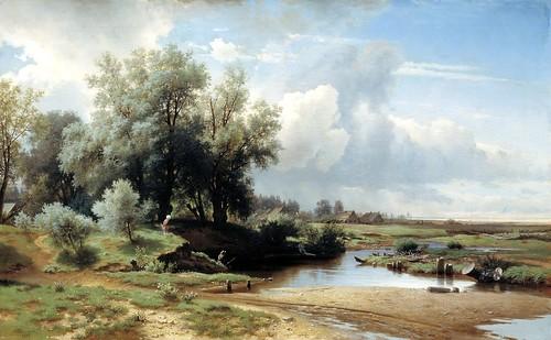 Lev Kamenev - Landscape [1861] by Gandalf's Gallery
