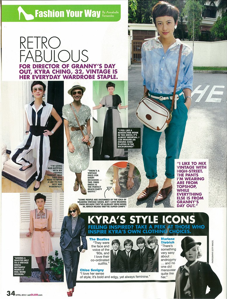 Kyra, a familiar face at the store, is in Cleo, April 2012 issue!
