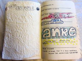 """Anfangsseite von """"Wreck This Journal"""""""