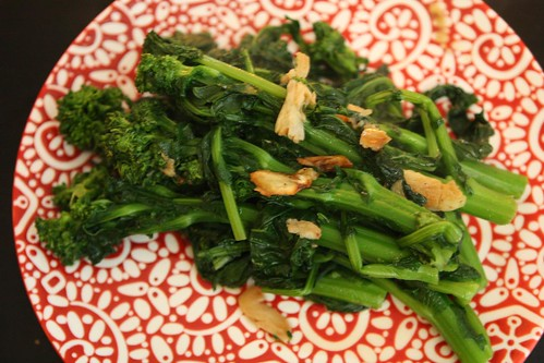 Garlic and Bacon Fat Sauteed Broccoli Rabe