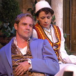 Twelfth Night L-R Geoffrey Kent (Orsino)_Kate Berry (Viola) photo P. Switzer -