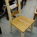 Country pine and cream stained kitchen chair