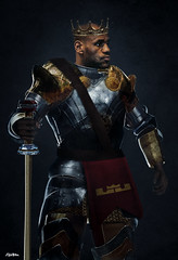 Knight King James Art by Alijah Villian
