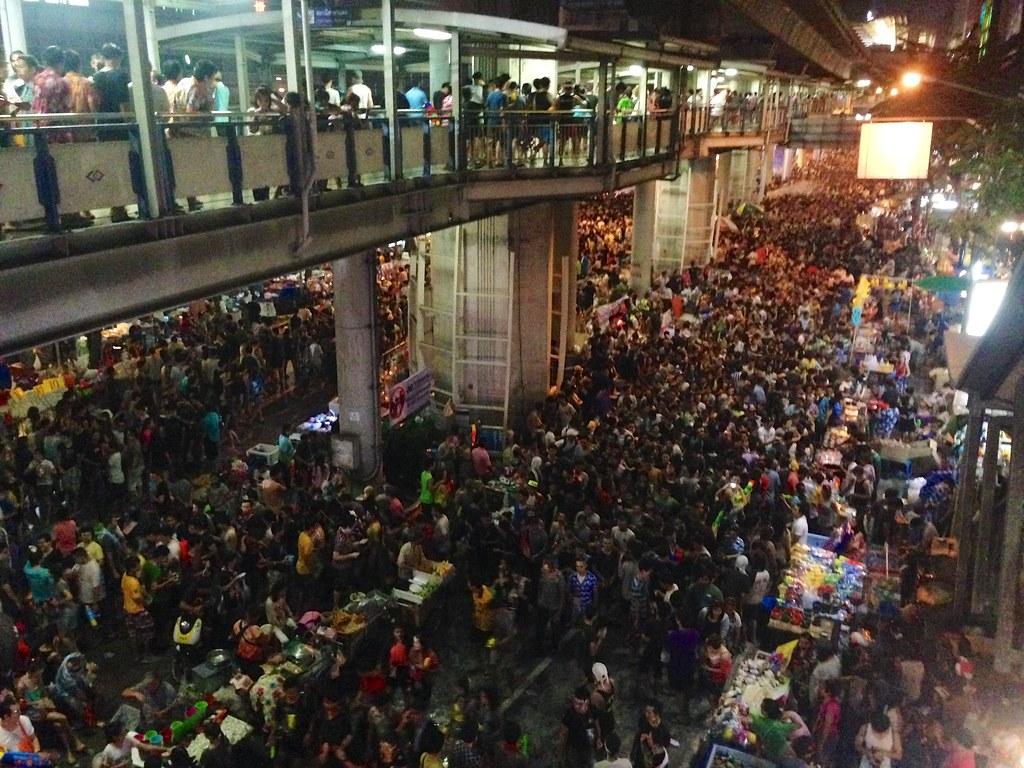 Songkran. Silom Road - Bangkok, Thailand. 4