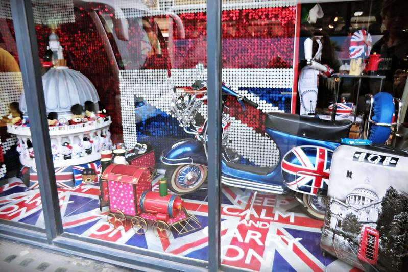 British shop window
