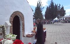 Ιαματικό Ψίνθος 2014 - Ο ιερέας της Ψίνθου, Παπαβαγιαννός στο εκκλησάκι της Αγίας Τριάδας Ψίνθου, Ιαματικό τον Απρίλη του 2014