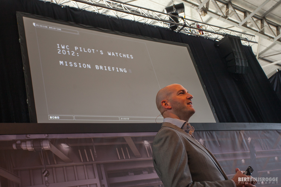 Presentation by Christian Knoop, head of design at IWC