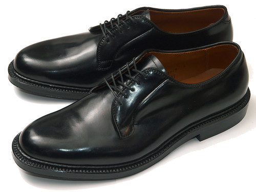 Alden / 9901 Plain Toe Blucher Black Shell Cordovan