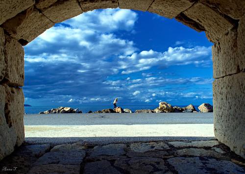 blue sea sky clouds nikon rocks hellas kreta greece nikkor vr heraklion iraklio iraklion kriti roccaalmare greeceisland irakleion hrakleio koules nikor1855vr nikond3100