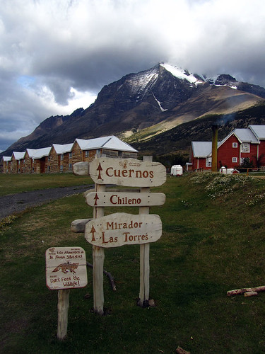 Start of trail to Torres del Paine
