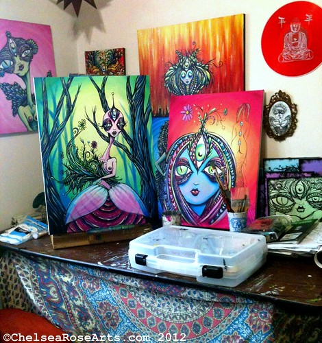 Art studio snapshot
