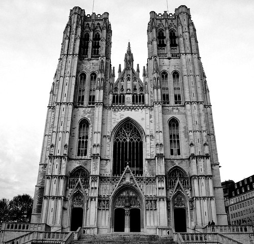 the cathedral of St. Michael and St. Gudula Brussels