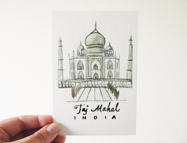 Postcard: Taj Mahal, India