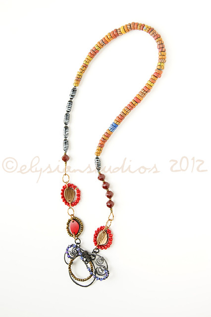 """Take Five"" Art Necklace"