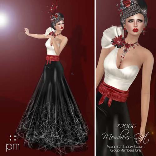 PurpleMoon Spanish Lady Gown 12k Members GroupGift by Cherokeeh Asteria