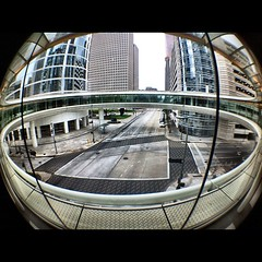 A fisheye view through the Smith St Skyring