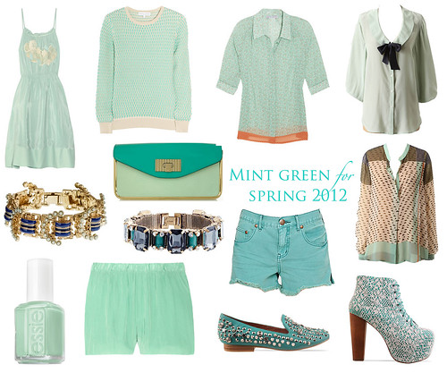 mint green collage